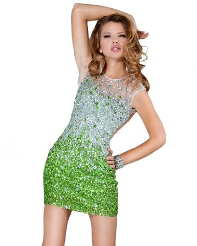 Jovani 171261, Ombre Jewel Short Dress  Jovani Dresses Jovani Prom