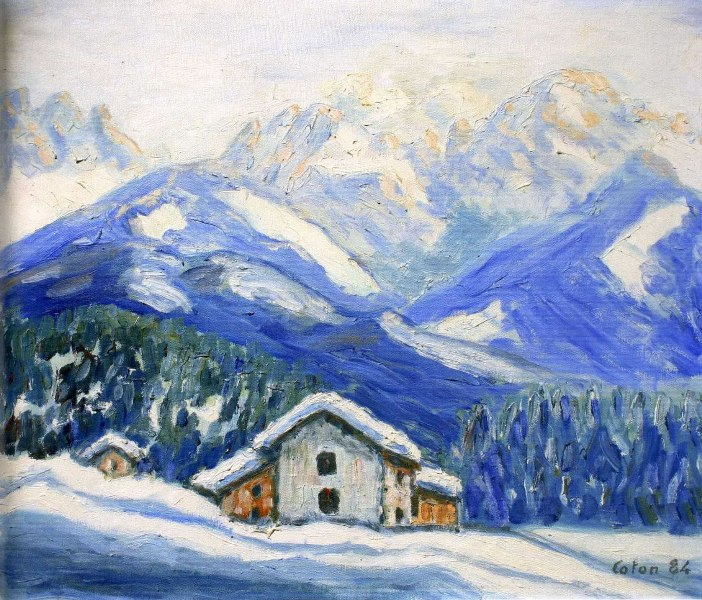 Studiamando liberamente paesaggi invernali di montagna for Paesaggio invernale disegno