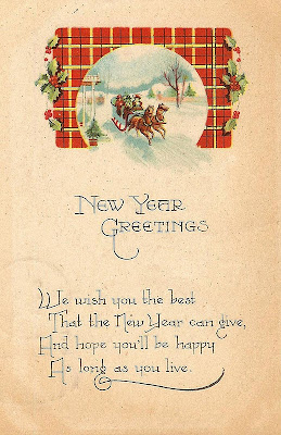 Antique Graphics Wednesday - New Year & Valentine ... Vintage New Years Images