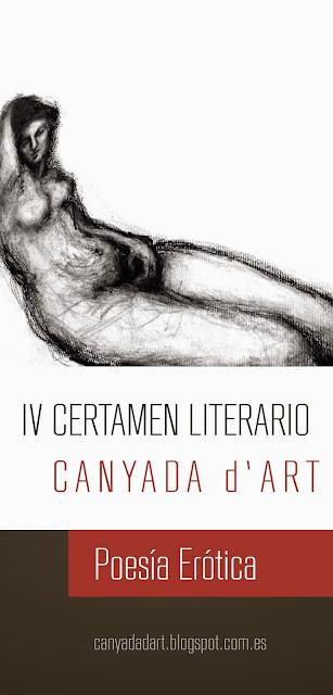 IV certamen literario Canyada d´art Poesía erótica