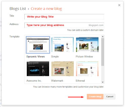 How to create a blog, Blogger, How to create a blogger blog, Blogger Blog, Blogspot