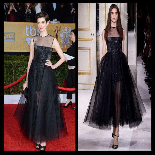 a filha do chefe anne hathaway jimmy choo sandálias kwiat joias SAG Awards 2013