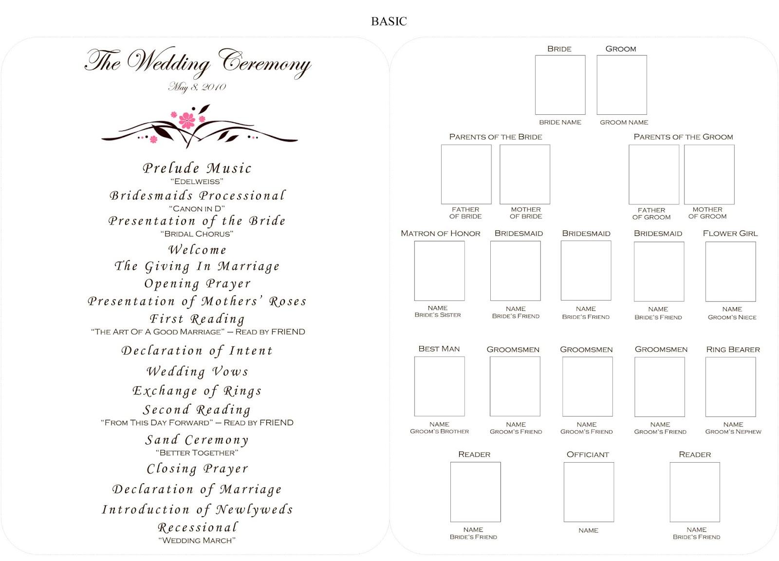 DIY Guide For Creating A Playbill Wedding Ceremony Fan Program - Blank wedding program template