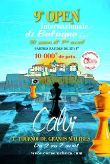 Echecs à Calvi : l'affiche officielle