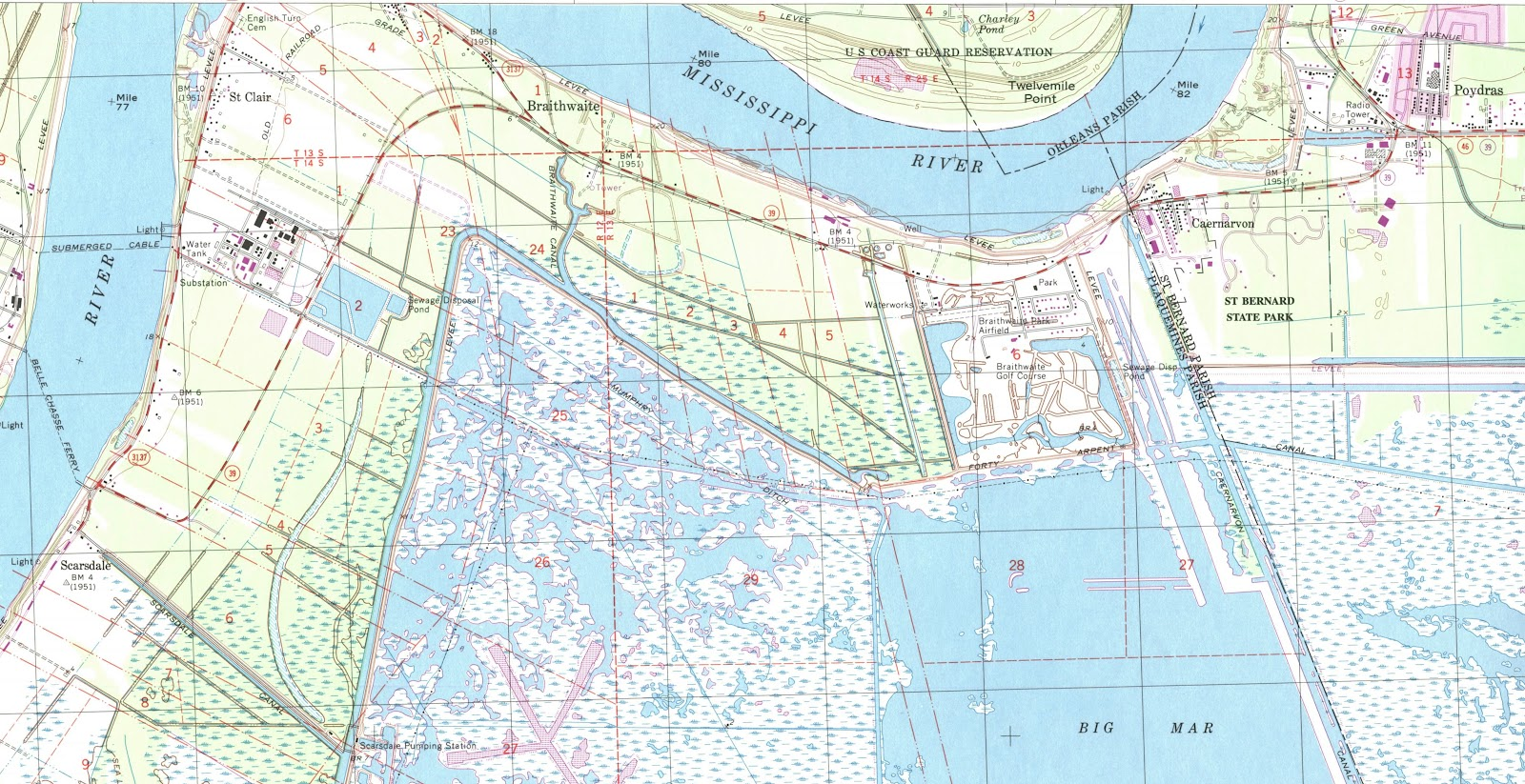 Gis Research And Map Collection New Orleans Plaquemines Parish