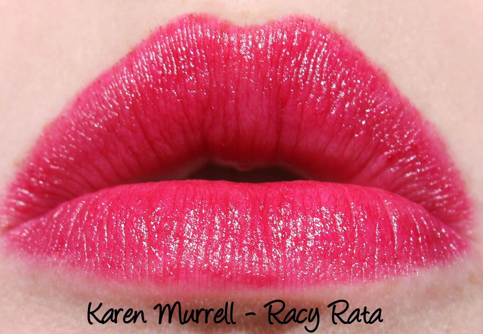 Karen Murrell Racy Rata Lipstick Swatches & Review