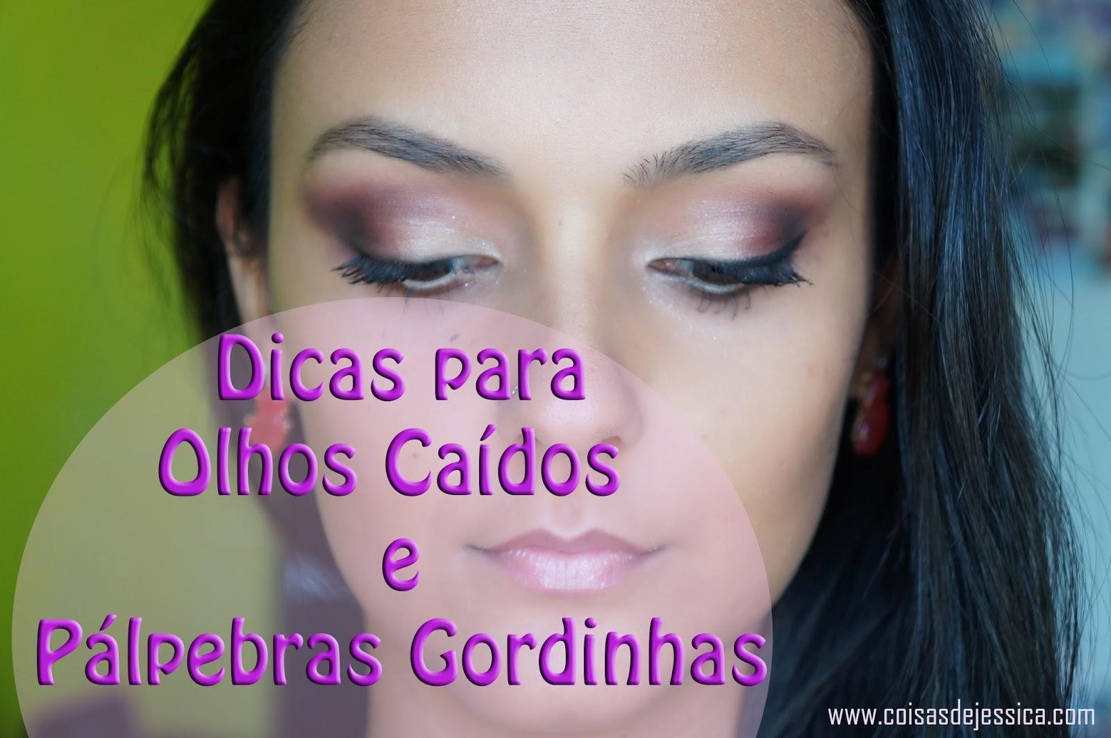 Excepcional Coisas de Jéssica: #Vídeo - Maquiagem para Olhos Caídos e Pálpebra  FP65