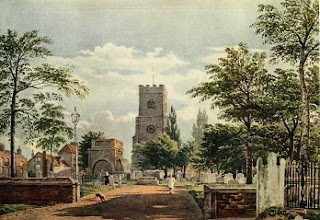 Water Color Painting-Hackney Church