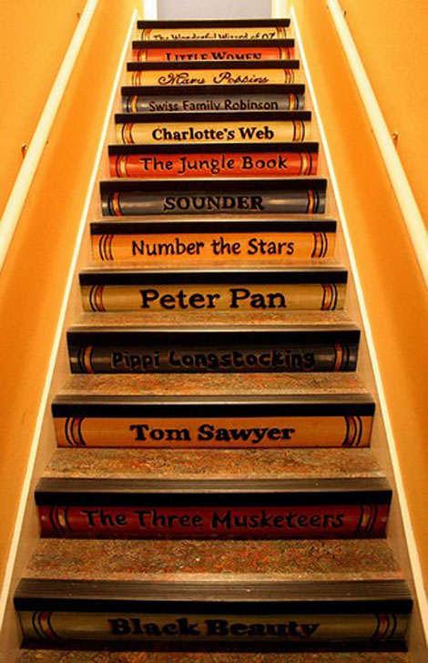 Dekogama como decorar una escalera - Vinilos para escaleras ...