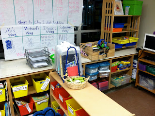 photo of classroom photo Teaching With Style organization 3rd grade listening center