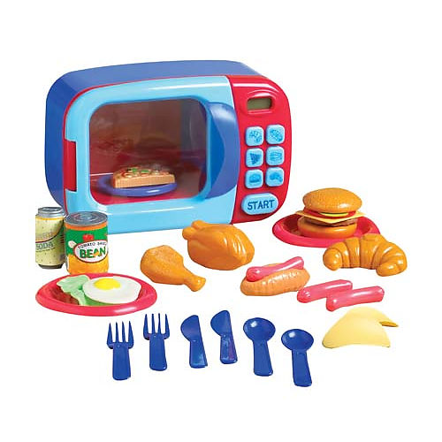 Toys R Us Play Dishes : Just like home microwave oven snaxtime