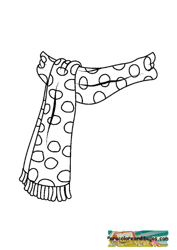 bufanda para colorear