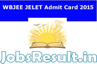 WBJEE JELET Admit Card 2015