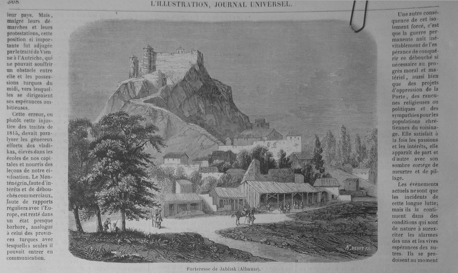 Albanie Forteresse Jabliak(Montenegro)