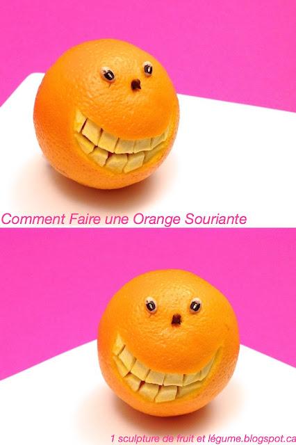 1 sculpture de fruit et l gume comment faire une orange souriante. Black Bedroom Furniture Sets. Home Design Ideas