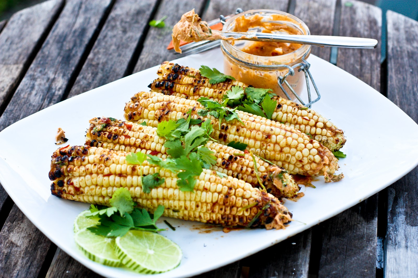 Grilled Corn with Chipotle, Lime and Cilantro
