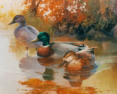 "#0018 ""Mallards in Autumn"" 16"" x 20"""