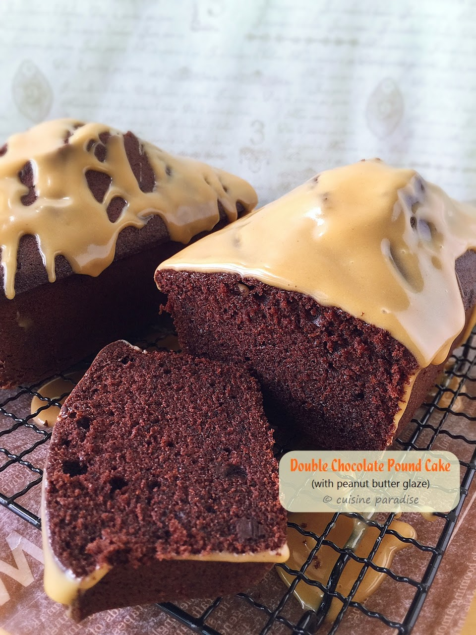 ... And Travel: Double Chocolate Pound Cake with Peanut Butter Glaze