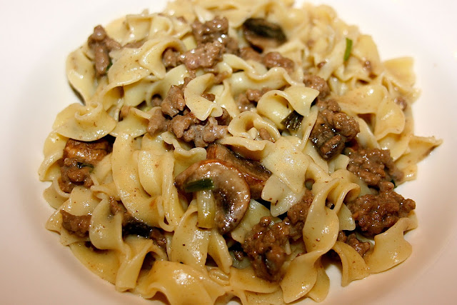 Ground Beef Stroganoff
