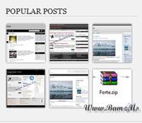 Membuat Popular Post dengan Animasi Gambar berputar