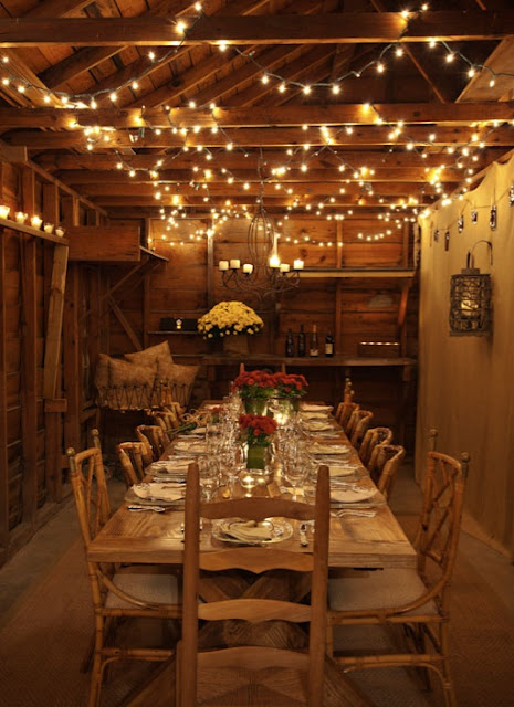 cena campo luces