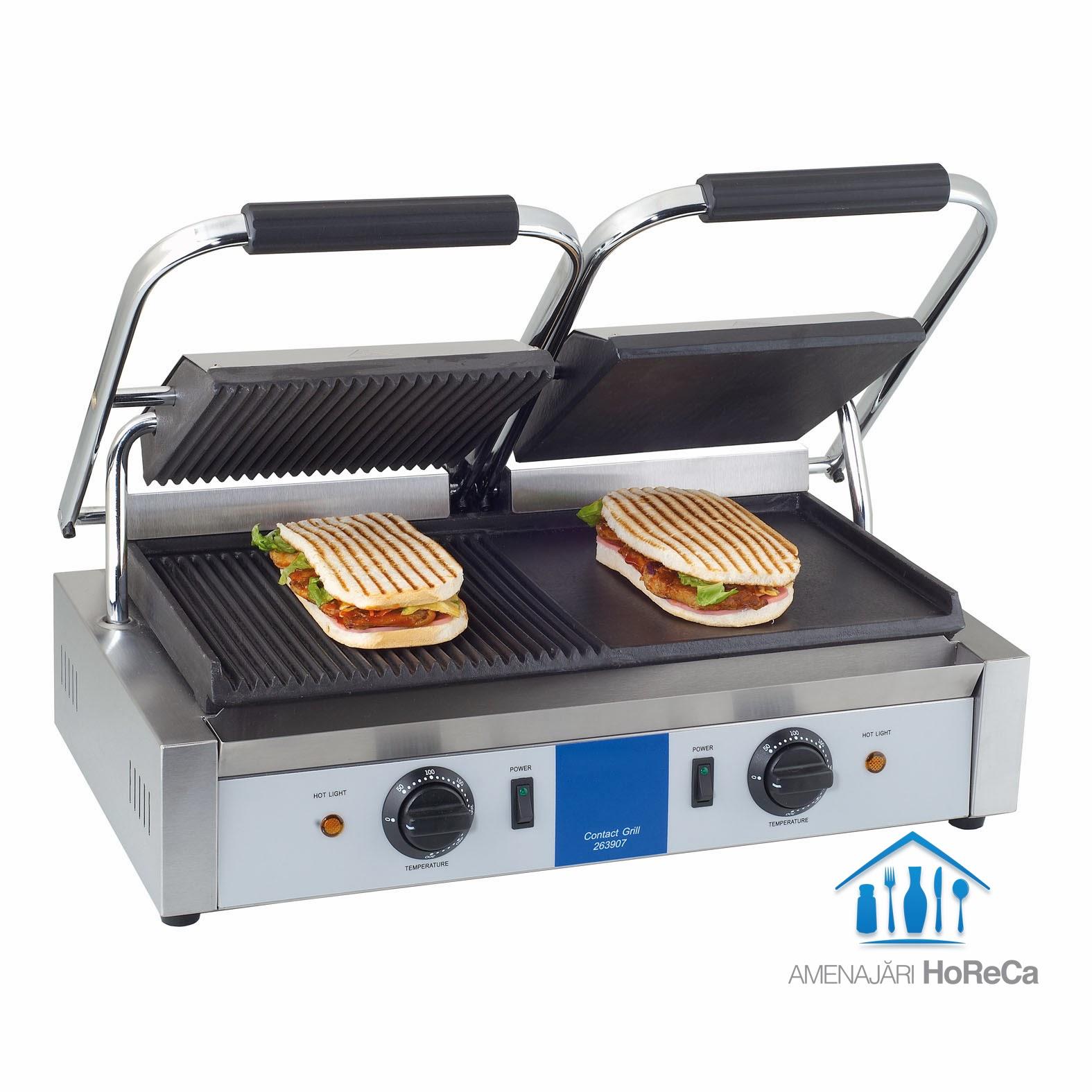 grill electric, model dublu, utilaje fast food, horeca