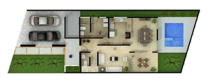 Planos de casas y plantas arquitect nicas de casas y for Planos casas modernas 1 planta
