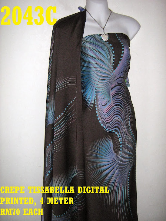 CTD 2043C: CREPE TISSABELLA DIGITAL PRINTED, EXCLUSIVE DESIGN, 4 METER