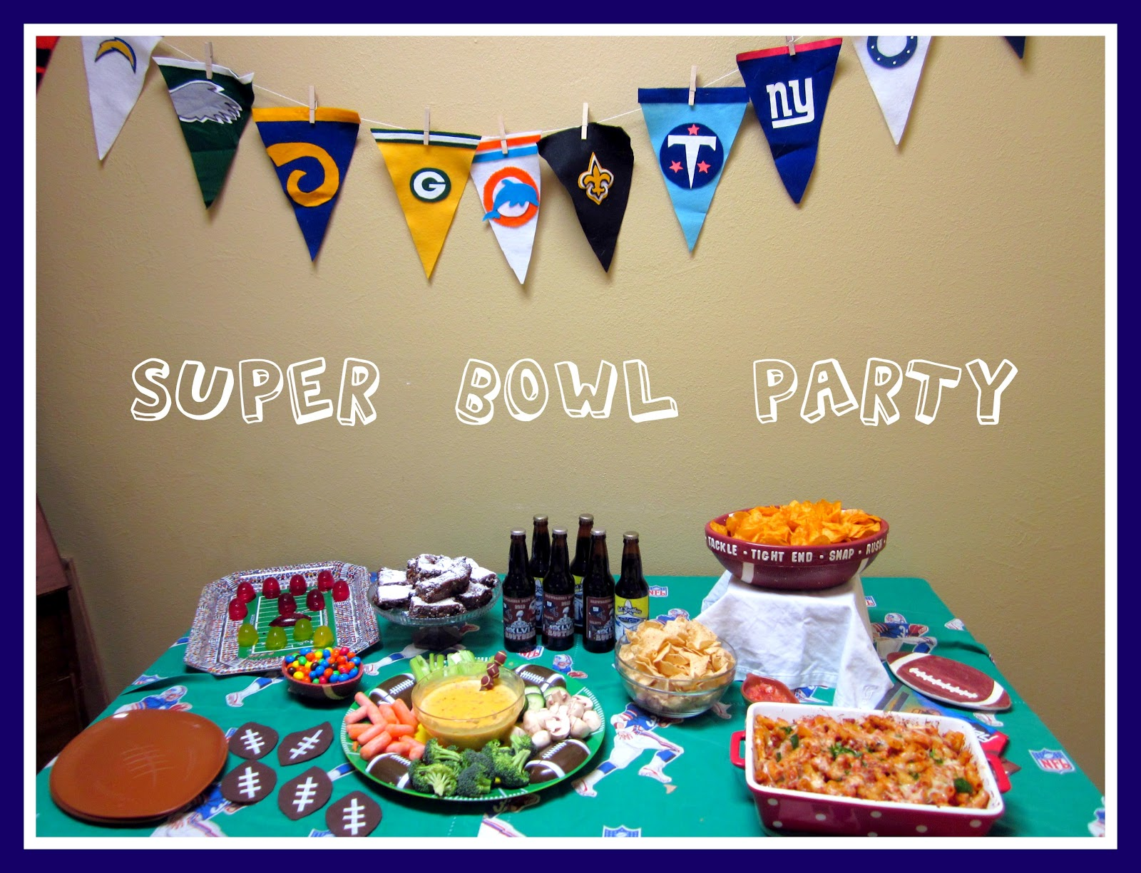 We grow by our dreams for Super bowl party items