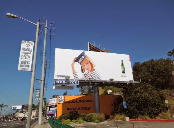 Peroni Beer sailor hat billboard Sunset Strip