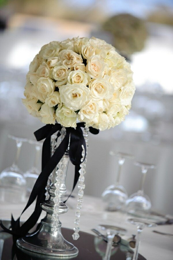 Lamb blonde black white wedding theme