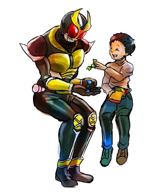 Gambar, Ilustrasi, Kamen Rider, Ksatria Baja Hitam,  Masa Kecil, Kamen Rider Agito