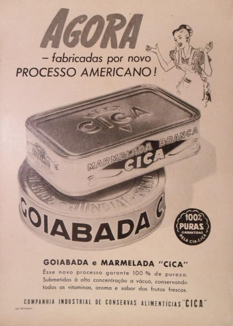 Propaganda da Marmelada Cica em 1951.