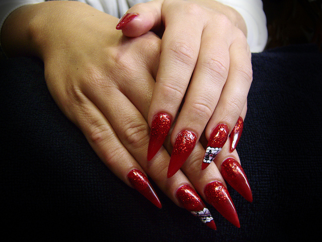 Red Sexy Acrylic Nails