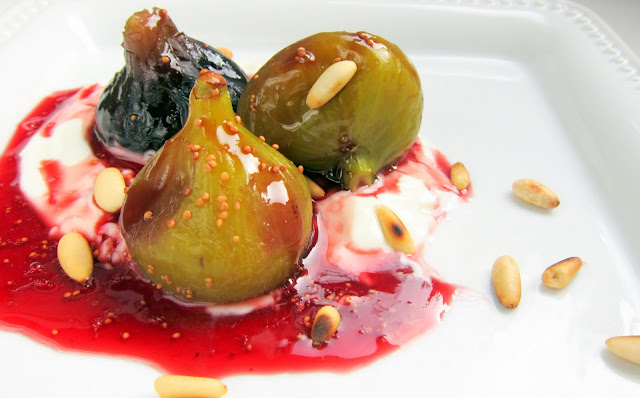 pressure cooker wine poached figs