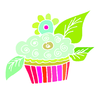 cupcakes de color fluor