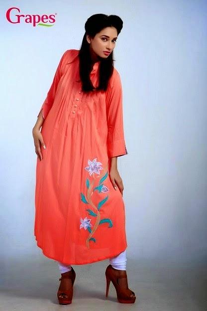 Ladies Jute Flower Embroidery Kurta Dresses