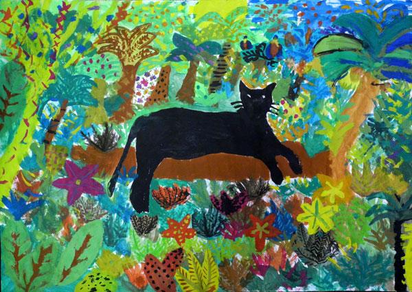 Kunstunterricht juli 2013 for Dschungel malen