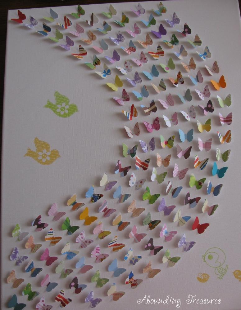 Abounding Treasures Designs: Custom Butterfly 3D Canvas Art