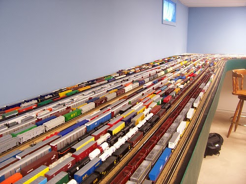 how to build a model railroad rail yard