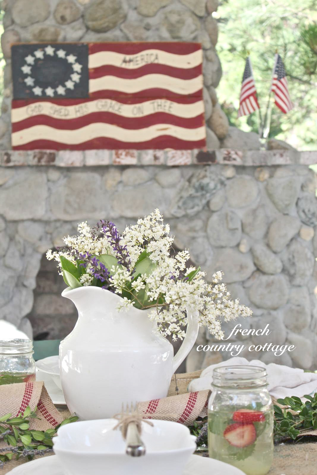 Happy 4th Of July French Country Cottage