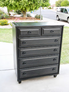 Black Shabby Chic Chest of Drawers  *SOLD*
