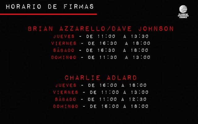 Firmas Brian Azzarello - Dave Johnson - Charlie Adlard