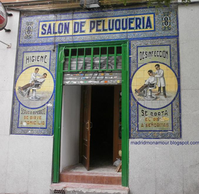 Madrid mon amour salon de peluqueria - Azulejos salon ...