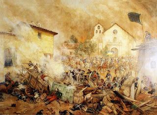 'Ultimos momentos en la batalla Rancagua', óleo del Maestro chileno don Pedro Subercaseaux Errázuriz (1880 - 1956) tomado de www.espaciocusachs.blogspot.com