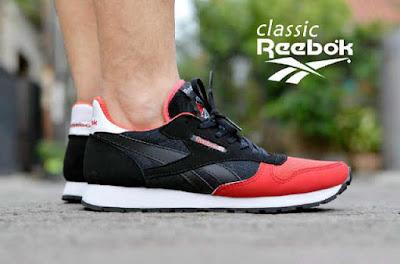 Sepatu Reebok Classic Black Combi Red