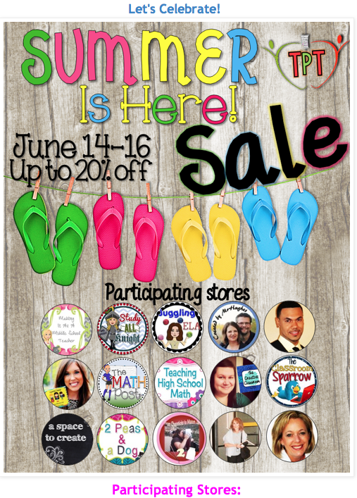 photo of TeachersPayTeachers Sale, JPG, June 14 - June 16, 2014, http://www.teacherspayteachers.com/Store/Ruth-S