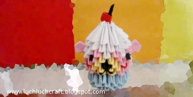 cupecake bear 3d origami