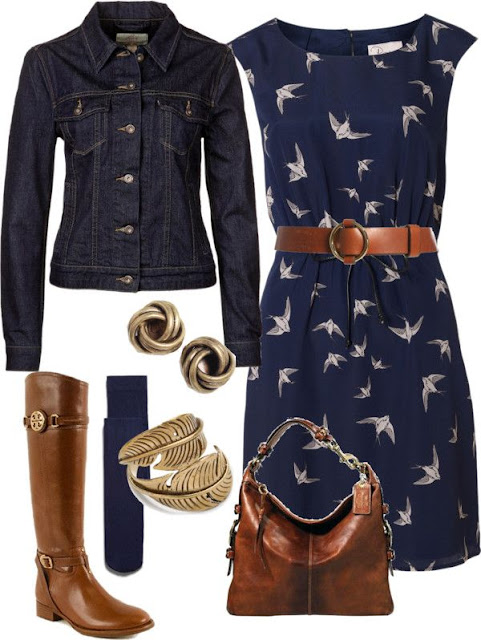 denim jacket and real leather boots #Fashion