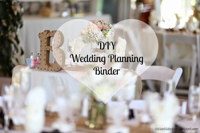 diy wedding planning binder